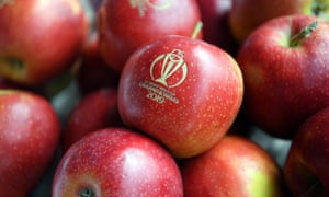 Cricket World Cup branded apples