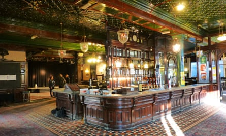 A Victorian gin palace inside the Cauliflower Hotel in Ilford, Essex, is on the National Heritage List.