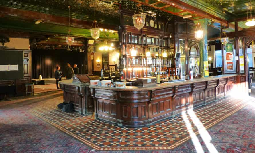 Victorian gin palace inside the Cauliflower hotel in Ilford, Essex