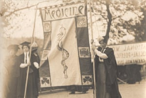'Medicine' suffrage banner first used on 13 June 1908.