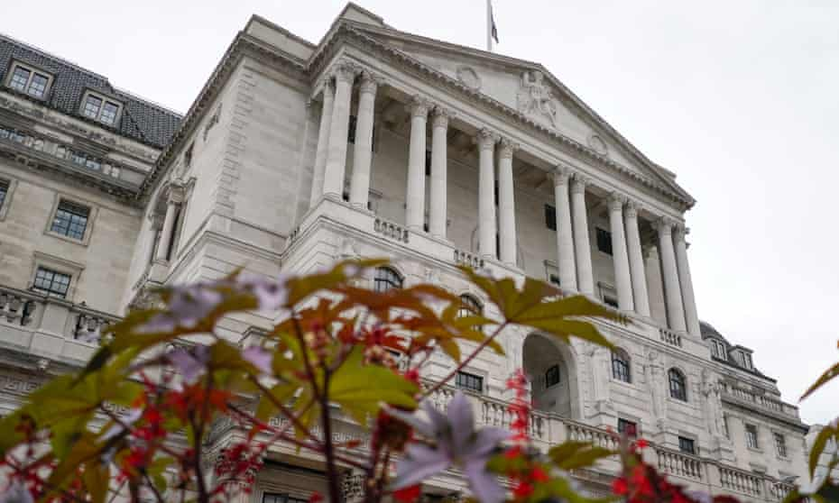 General view of the Bank of England
