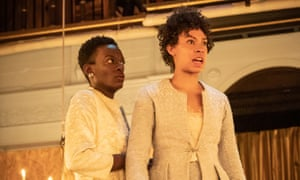Sarah Amankwah and Nina Bowers in Richard III.