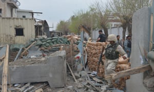 Site of suicide attack in  Jalalabad, Afghanistan
