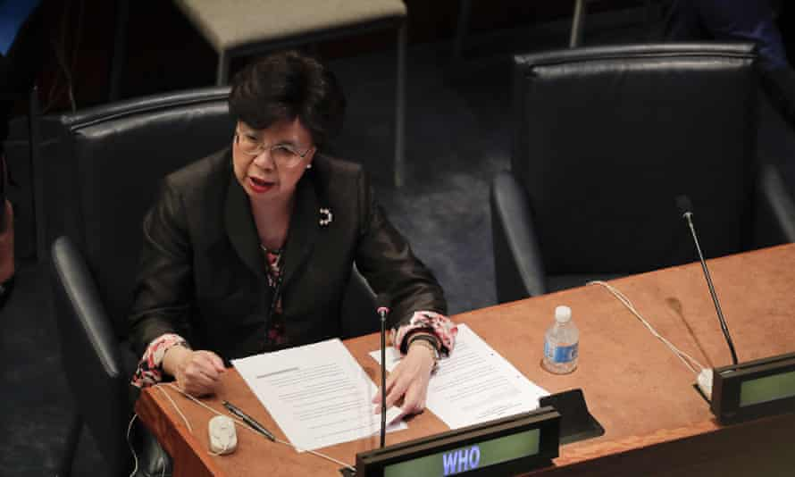 Margaret Chan, director general for the World Health Organization, speaking at another UN event on refugees and migrants.
