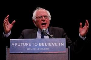 Bernie Sanders in New York.