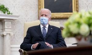 Joe Biden in the oval office.