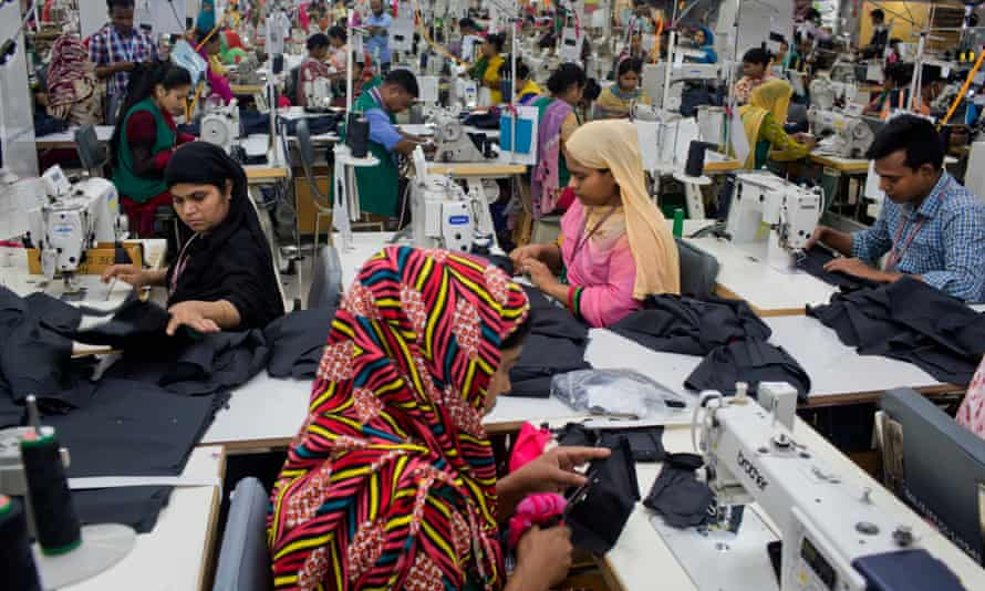 A garment factory in Dhamrai, near Dhaka, Bangladesh.