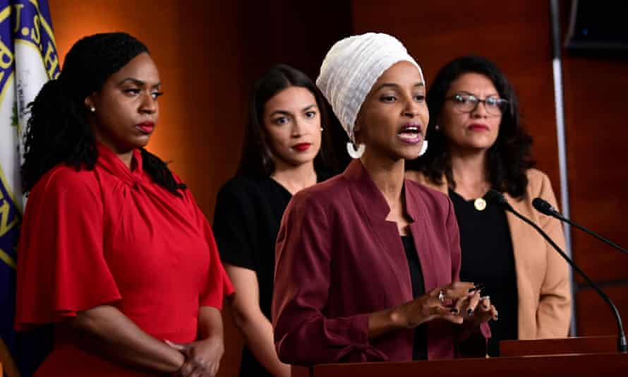 Trump's vicious attacks on Ilhan Omar, Alexandria Ocasio-Cortez, Ayanna Pressley and Rashida Tlaib of Michigan, all women of colour, may be an example of a cynical and warped strategy for self-preservation.