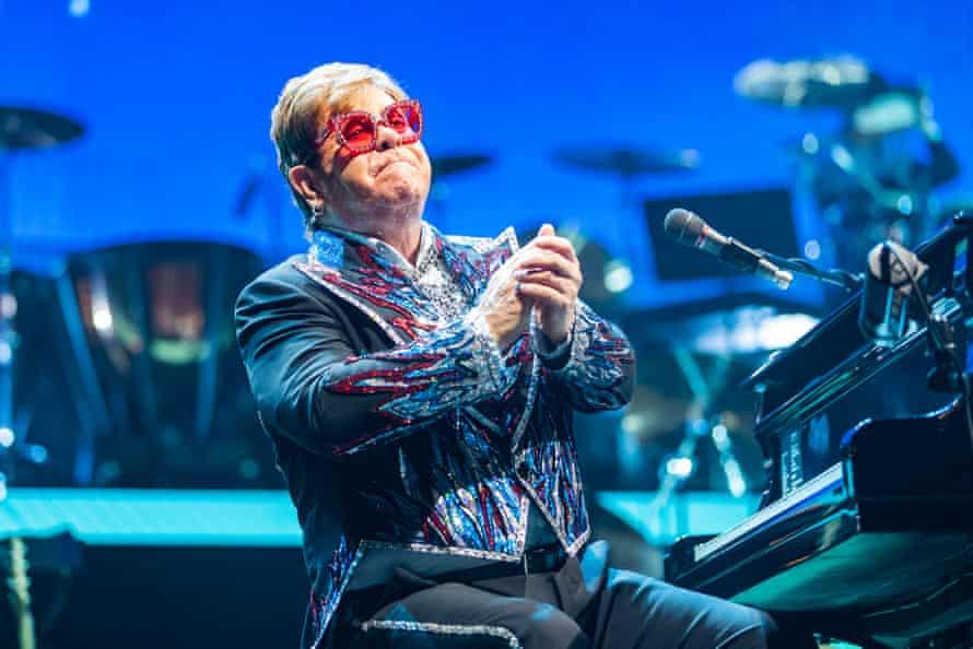 Elton John on his Farewell Yellow Brick Road tour.
