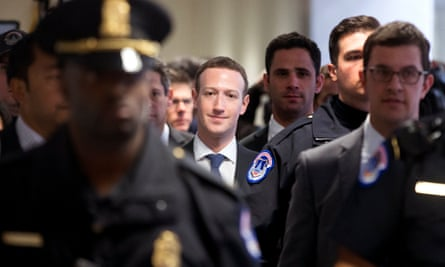 Mark Zuckerberg, Facebook's chief executive, after discussing data breaches with lawmakers in Washington.