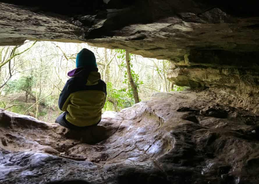 Sitting at the mouth of Kirkdale cave.