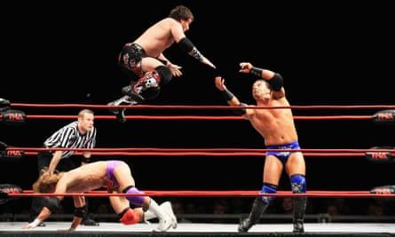 No holds barred … TNA Wrestling.