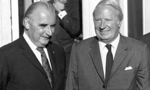 French President Georges Pompidou and British prime minister Edward Heath during talks about Britain's entry to the EEC in 1972.