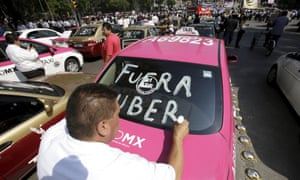 Mexico City Uber protest