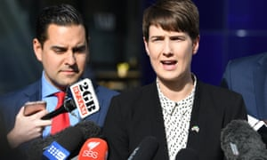 Alex Greenwich and Anna Brown face the media in September