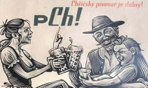 A promotional poster for the Chříč brewery