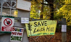 The Leith Hill Protection Camp near Holmwood in Surrey.