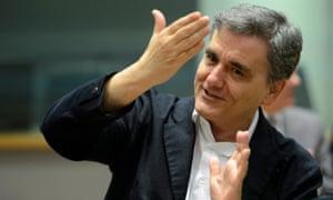 Euclid Tsakalotos, Greek finance minister