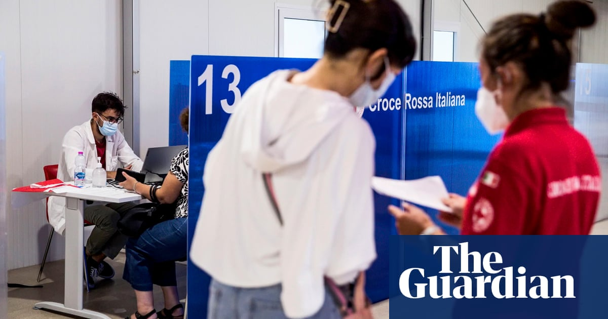 'I need to work': Italy's green pass rule triggers rise in Covid jab uptake