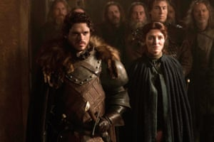 Actors Richard Madden and Michelle Fairley in Game Of Thrones