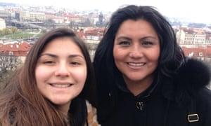 Victoria Piñeiro, 13, and her mother, Susie Martinez.