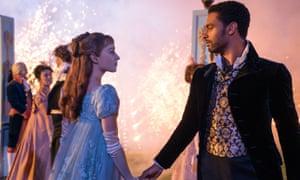 Daphne and Simon dancing in Regency romance Bridgerton