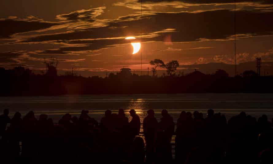 While the full eclipse could be seen form Argentina and Chile, a partial solar eclipse was visible in other places, like Porto Alegre, Brazil.