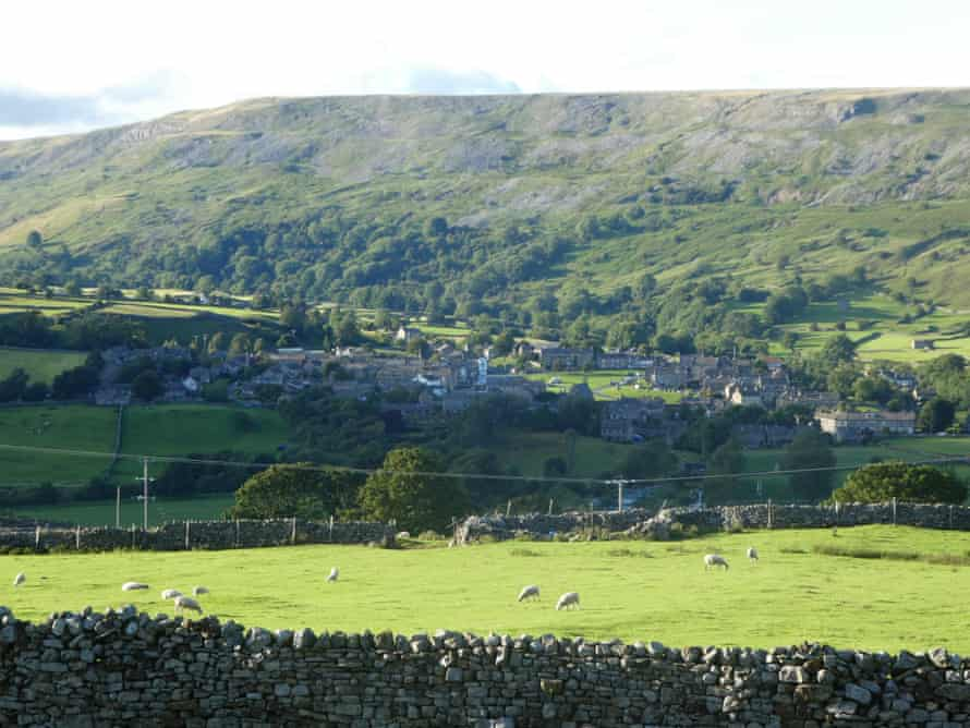 Grinton Lodge looks down on the village of Reeth.