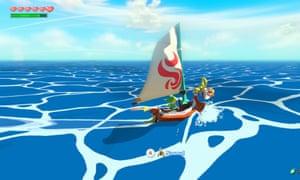 On the high seas … Wind Waker.
