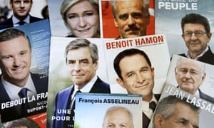 French presidential election leaflets.