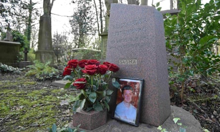 The grave of murdered ex-KGB agent Alexander Litvinenko