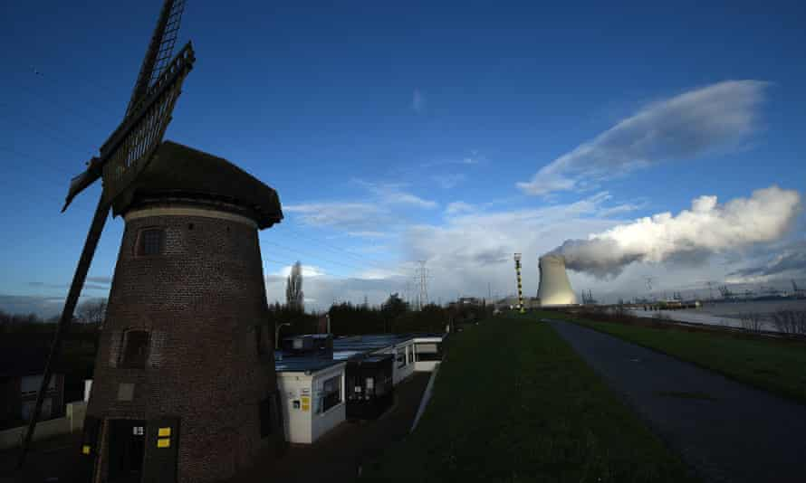 Cooling towers of Belgium's Doel nuclear plant.
