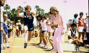 Eunice Shriver cheering at the Special Olympics.