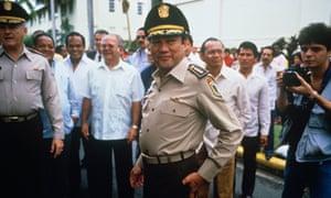 Surrender to the sound … Panamanian dictator Manuel Noriega.