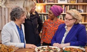 Giorgio Locatelli, Zoë Ball, Nadiya Hussain and Rosemary Shrager on The Big Family Cooking Showdown.