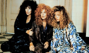 Sarandon with Cher and Michelle Pfeiffer in The Witches of Eastwick, 1987.