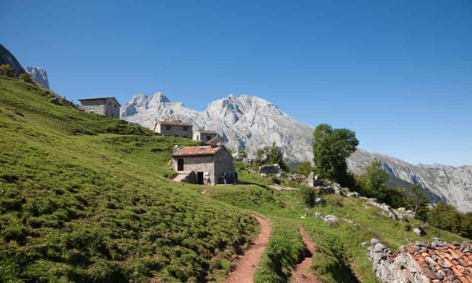 Mountain refuges in the Picos de Europa.