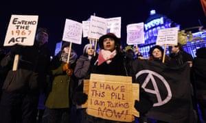 Pro-choice protestors in Belfast