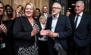 Jeremy Corbyn with Lisa Forbes
