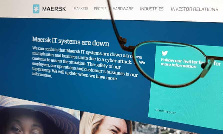 Shipping company Maersk's IT system was impacted by the cyber-attack.