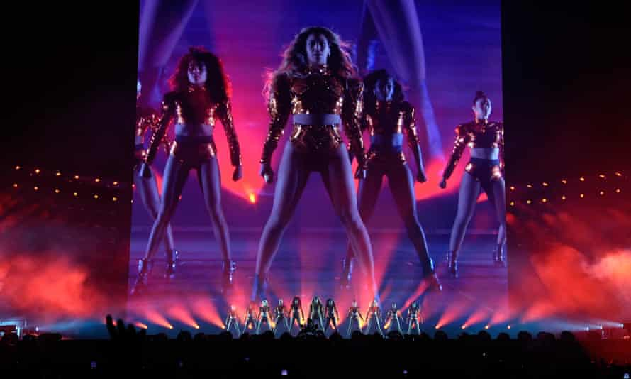 Take it to the stage ... Beyoncé on her Formation world tour.