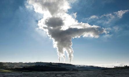 Gas plant plume