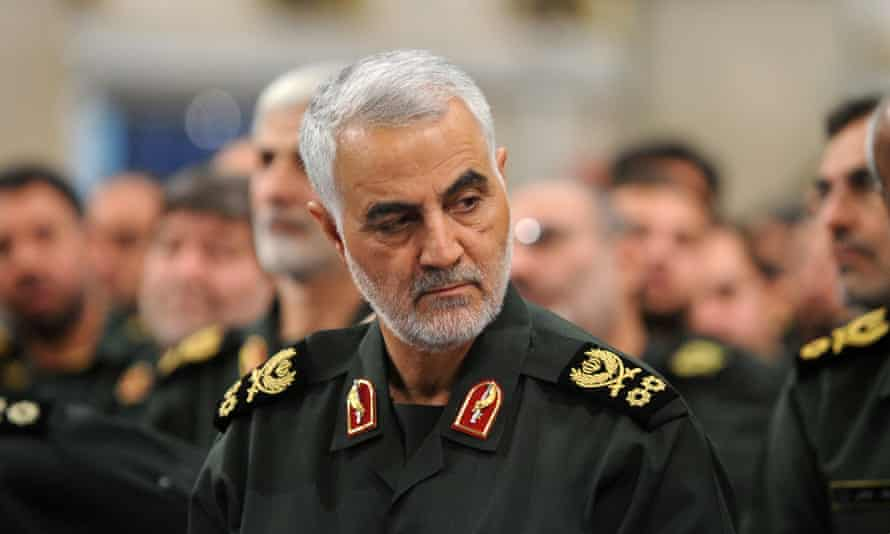 Iranian general Qassem Suleimani, assassinated by US drone in January 2020.
