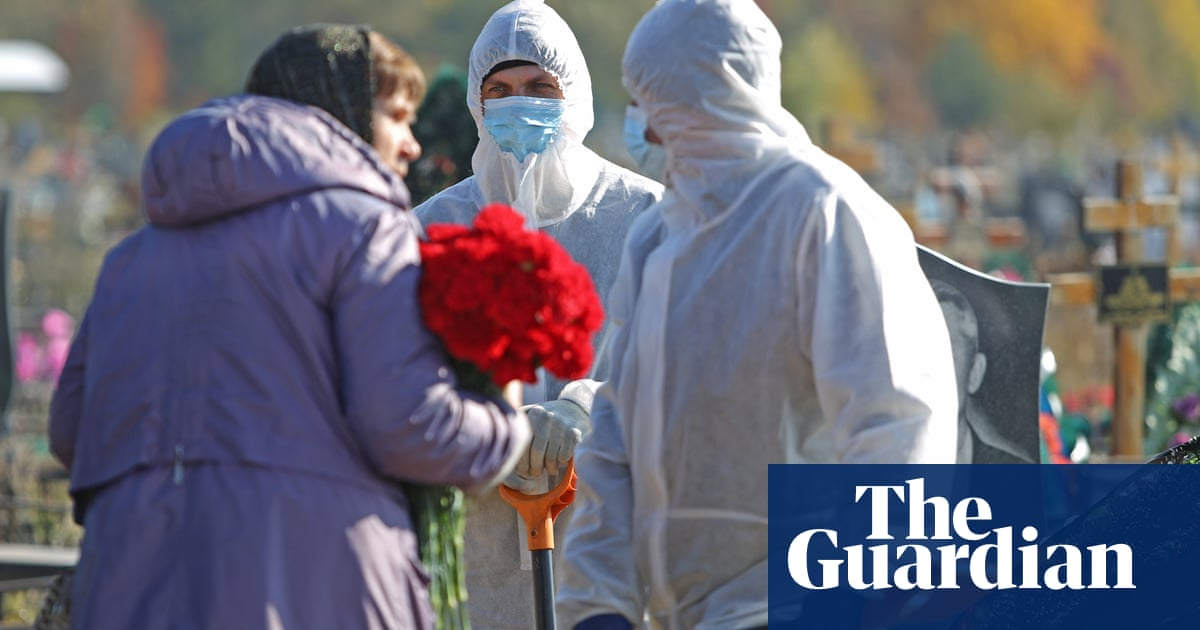 Russia reports record daily Covid death toll as Kremlin shrugs off new lockdown