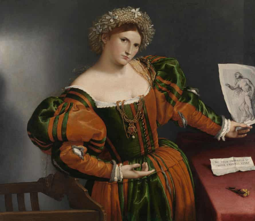 Lorenzo Lotto's Portrait of a Woman inspired by Lucretia (c1530-33).