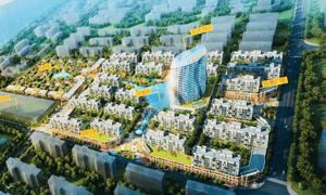 An illustration of plans for Kai Bo Plaza on Otres beach, Sihanoukville.