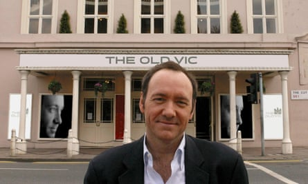 Kevin Spacey outside Old Vic