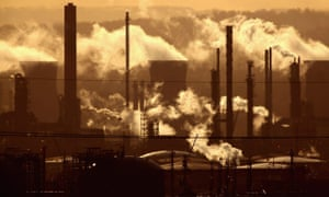 Smoke billows from the the Grangemouth oil refinery in Scotland in 2009. Are fossil fuel assets being overvalued?