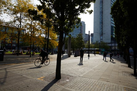 Some property developers want to see more trees, more places to sit and better cycle lanes in Piccadilly, Manchester.