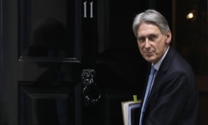 Philip Hammond outside 11 Downing Street